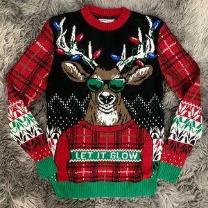 Ugly Holiday Sweater | Men's | Let It Glow